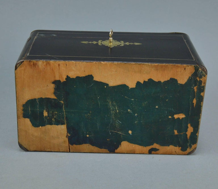 French Napoleon III Marquetry Tea Box, 19th Century For Sale 6