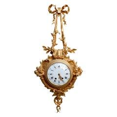 French Napoléon III Ormolu Cartel Clock, after Caffieri, circa 1880