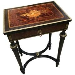French Napoleon III Period Ebonized Travailleuse/Dressing Table, 19th Century