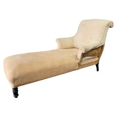 French Napoleon III Scrolled Back Chaise Longue