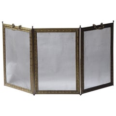 French Napoleon III Style 'Bouhon Frères' Fireplace Screen or Fire Screen