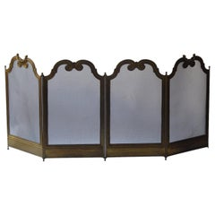 French Napoleon III Style Fireplace Screen or Fire Screen
