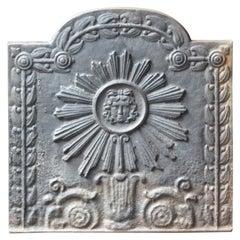 French Napoleon III Style 'The Sun' Fireback