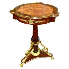 French Napoleon III Style Tulipwood and Mahogany Table