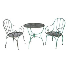 French Napoleon III Three Piece Garden Set