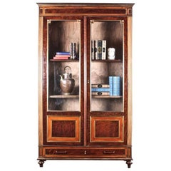 French Napoleon III Two-Door Bookcase Bibliotheque