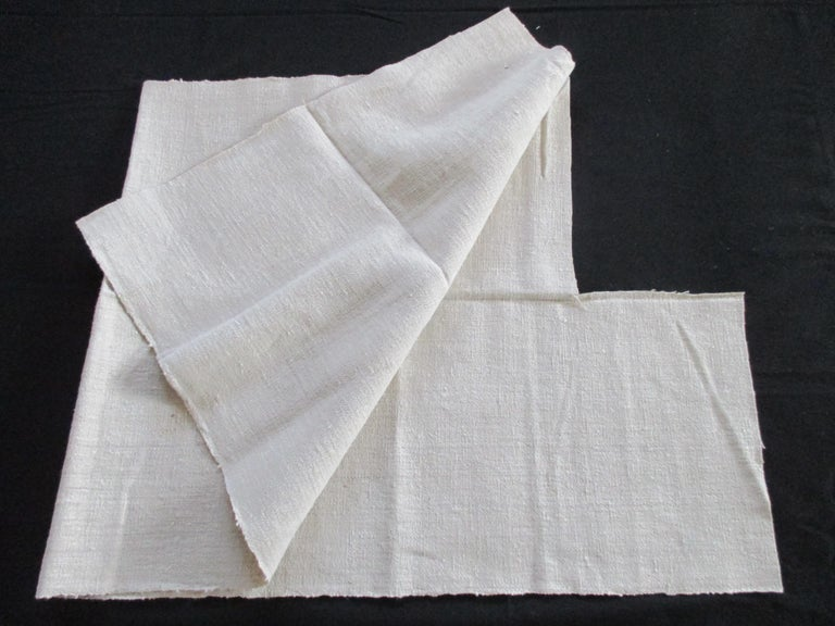 French Provincial French Natural Grain Sack Textile Fragment For Sale