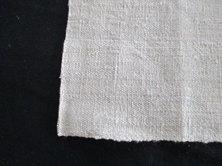 19th Century French Natural Grain Sack Textile Fragment For Sale