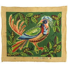 French Needlepoint with Pigeon