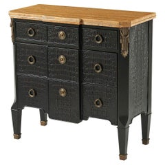 French Neo Classic Marble Top Commode
