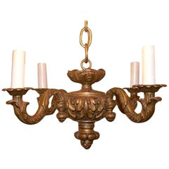 French Neoclassic Giltwood Chandelier