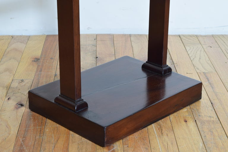 French Neoclassic Mahogany Tray Top 1-Drawer Side Table For Sale 5