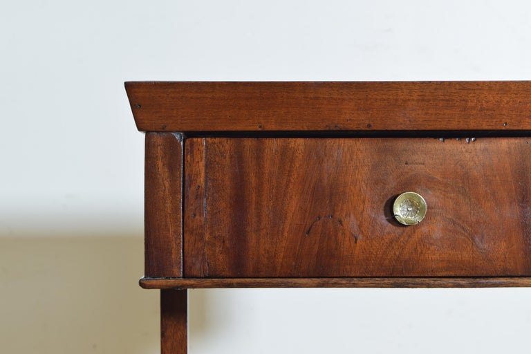 French Neoclassic Mahogany Tray Top 1-Drawer Side Table For Sale 2