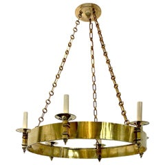 French Neoclassic Style Ring Chandelier