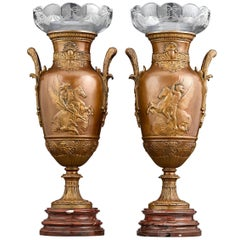 French Neoclassical Bronze Urns