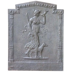 French Neoclassical 'Diana' Fireback, 19th Century