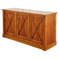 French Neoclassical Directoire Style Fruitwood Sideboard Buffet Server