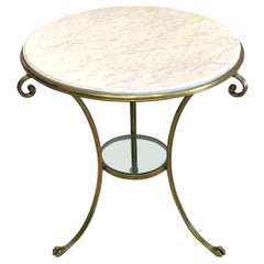 French Neoclassical Gilt Bronze & Marble Gueridon