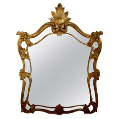 French Neoclassical Giltwood Wall Pier, Wall or Console Mirror