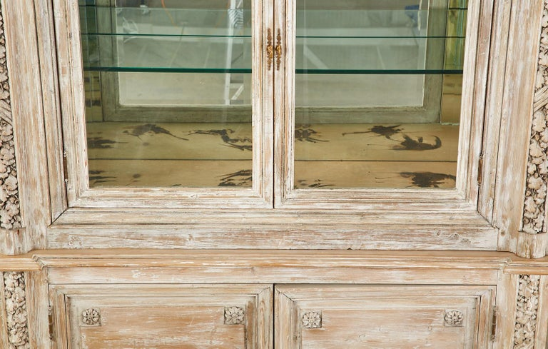 French Neoclassical Louis XVI Style Pine Bookcase Display Cabinet For Sale 14