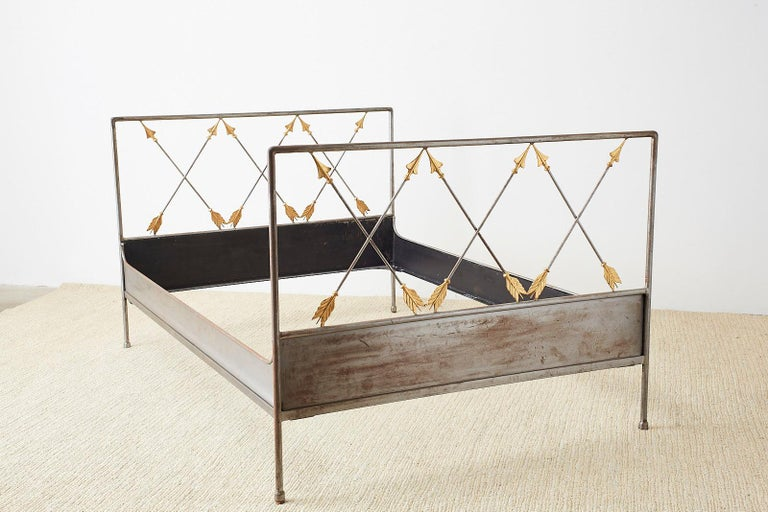 French Neoclassical Maison Jansen Style Steel Daybed For Sale 8