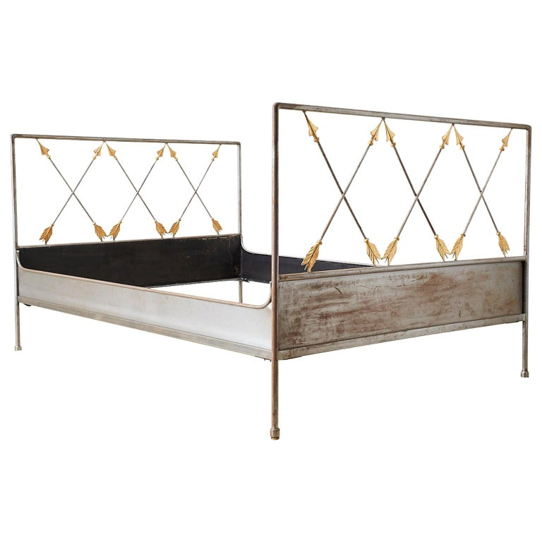 French Neoclassical Maison Jansen Style Steel Daybed For Sale