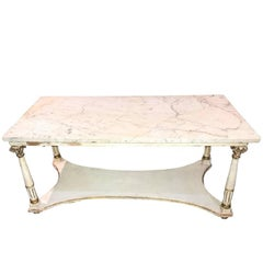 French Neoclassical Painted Coffee Table