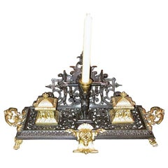 French Neoclassical Revival Bronze and Ormolu Desk Stand