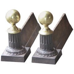 French Neoclassical Style Andirons