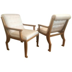 French Neoclassical Style Armchairs after Marc du Plantier