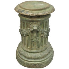 French Neoclassical Style Bronze Fluted Column Pedestal Dining Center Table Base