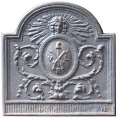 French Neoclassical Style Coat of Arms Fireback
