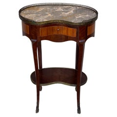French Nightstand or Side Cabinet Tables Louis XVI Style