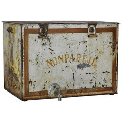 French Non Pareil Metal Ice Box