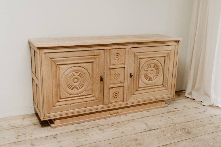 French Oak 1940s Cabinet In Good Condition For Sale In Brecht, BE