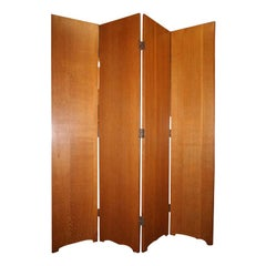 French Oak 4 Panel Screen
