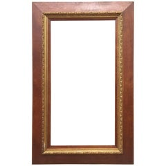 French Oak and Golden Moulding Picture Frame, 1900s