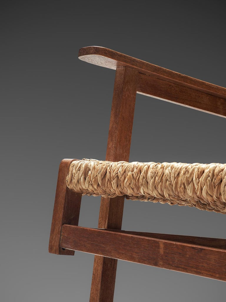 French Oak And Rope Armchair 1940s For Sale At 1stdibs
