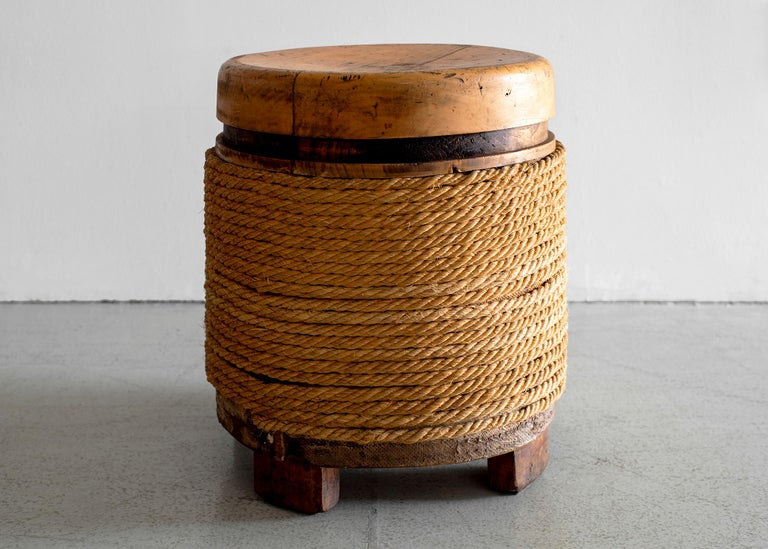 French Oak and Rope Stool For Sale 3