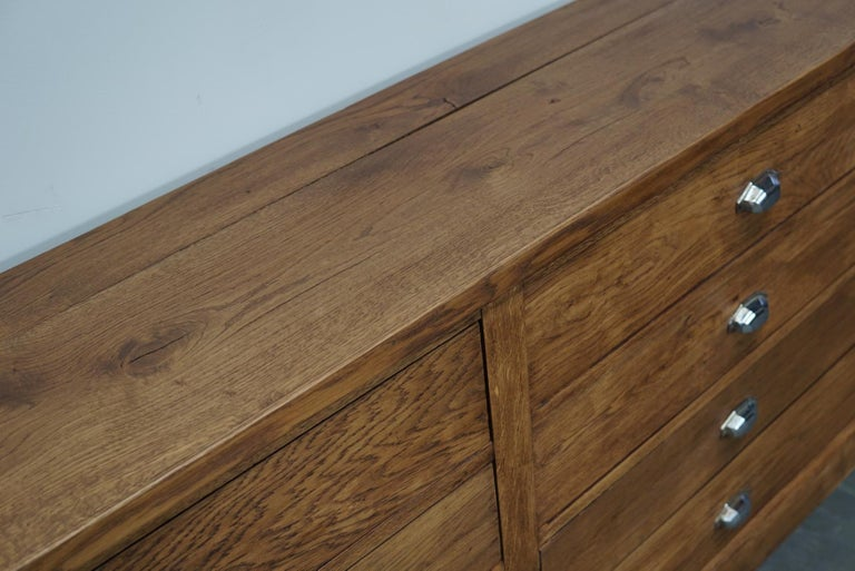Mid-20th Century French Oak Apothecary Cabinet, 1930s For Sale