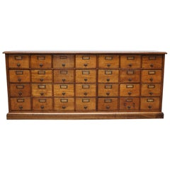 French Oak Apothecary Cabinet, circa 1930s