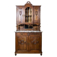 French Oak Buffet from the Turn of the 19th and 20th Centuries