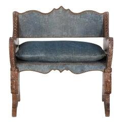 French Oak Cerused Bench from Coco Chanel's Villa La Pausa