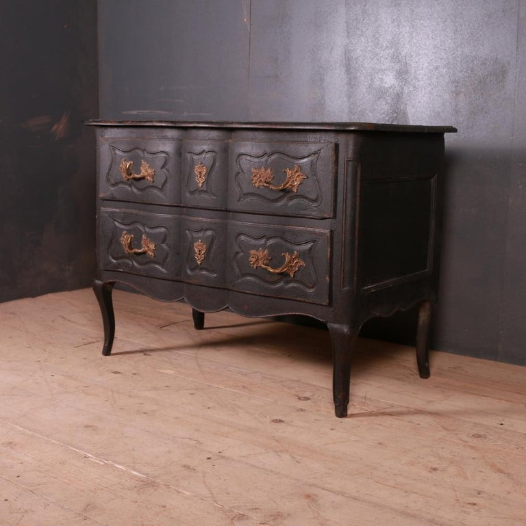Painted French Oak Commode For Sale