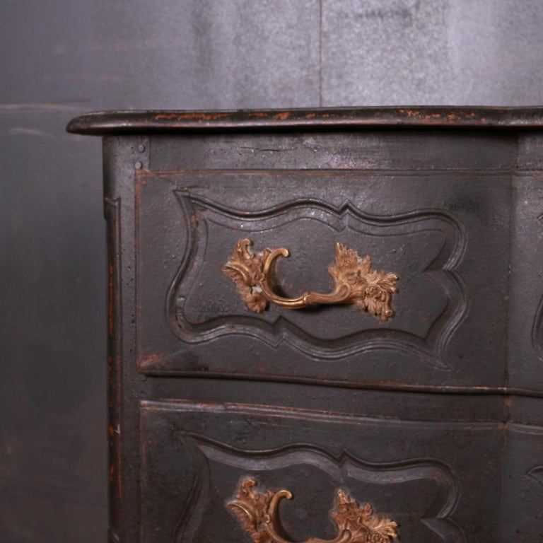 18th Century and Earlier French Oak Commode For Sale