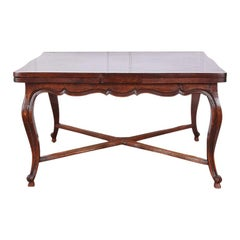 French Oak Draw-Leaf Table