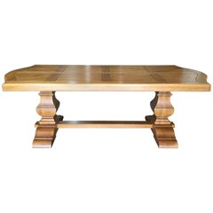 French Oak Farm Table with Extensions