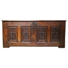 French Oak Gothic Coffer