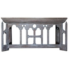 French Oak Limed Gothic Alter Table, circa 1880s