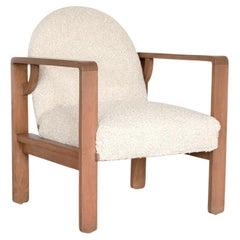 French Oak Lounge Chair